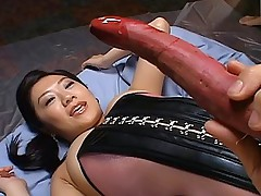 Sexy Asian model is enjoying her date and veggie masturbation
