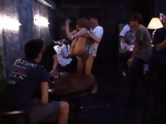 Kirara Asuka Asian held in air is aroused with dudes watching