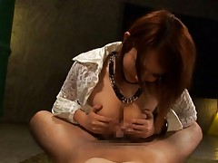 Reon Otowa Asian rubs shlong with and between nude and juicy cans