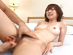 Kaede Matsushima is so wet as her boyfriend finger fucks her