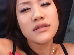 Japanese AV Model with big titties slurping well two joysticks