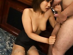 Pine Shizuku Asian in nylon stockings is doggy style screwed