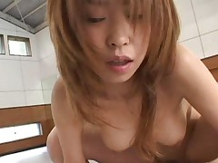 Japanese AV Model knows how to ride boner to have one happy peach