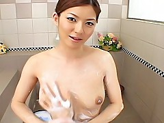 Chika Nakamura Sexy Asian tramp likes having sex and sucking in the bathroom