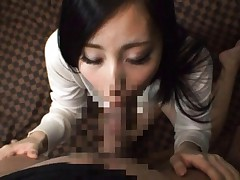Ren Azumi Asian is recorded on camera while is screwed like crazy