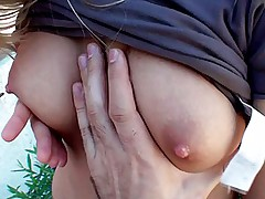 Young couple films fuck in fresh air
