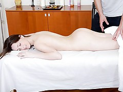 Girl nude and pounded in the massage parlor