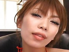 Hikari Hino swallowing her boyfriends cum after sucking him