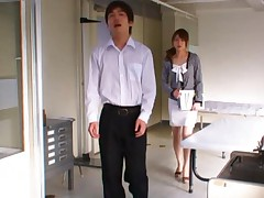Akiho Yoshizawa gets roughly fondled by her hall room colleague