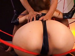 Sana Asian sex doll is tied and made to suck cock and rear fuck