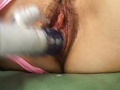 Nene Mukai Asian is fucked with dildo inside and over vagina