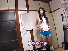 Lala Suzumiya Asian shows man her hot body in sportive outfit