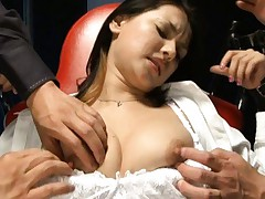 Maria Ozawa Asian has naughty hooters out of bra and teased a lot