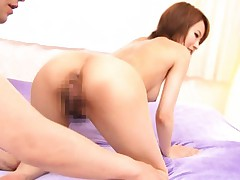 Yui Misaki Asian spreads cunt and asshole and has them licked