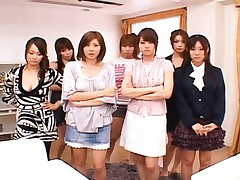 Japanese AV Model and friends ready to suck his big hard cock