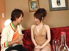 Miku Tanaka Pretty lady drinking with her date gets tits exposed