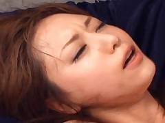 Akiho Yoshizawa takes a cock deep inside her wet cunt and moans