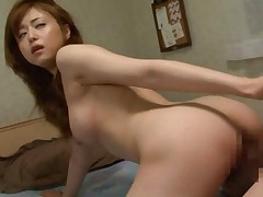 Akiho Yoshizawa taking cock more and more from behind only