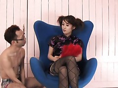 Ami Matsuda Asian has juicy tits squashed and nipples pressed