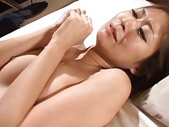 Risa Misaki Asian gets so much fuck in vagina and sperm on face