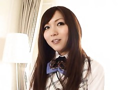 Yuu Asakura Asian is caressed in office suit and high heels shoes