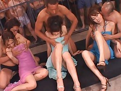 Maria Ozawa Asian and babes are fondled by fellows behind bars