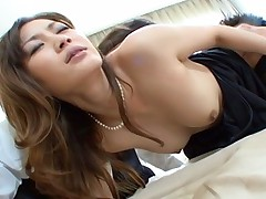 Japanese Av Model horny Asian teen is getting a hard pussy pounding fuck