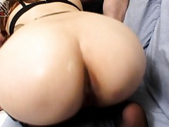 Mako Kamizaki Asian busty in stockings is nailed from behind