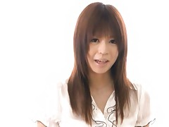 Japanese AV Model takes all of her clothes off and hides beaver