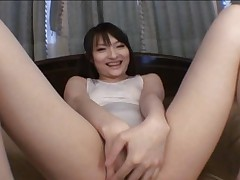 Rika Sonohara Cute Asian doll in lingerie gets her pussy fingered