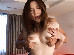 Alice Ozawa Asian gets big tits out of red tapes and fondled