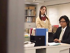 Shelly Fujii Asian kissing and unzipping her teacher after class
