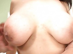 Maki Kokoro Asian with nasty bazoom bas has nipples sucked by man