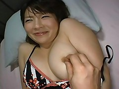 Big boobed model gets her mouth checked for cum when she is asleep