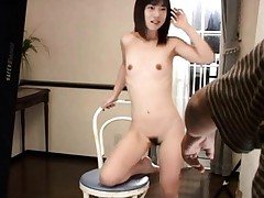 Rino Sayaka Asian with bee stings and hairy pussy sucks boner