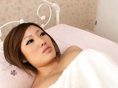 Idzumi Morino Asian has big boobies out of towel and squeezed