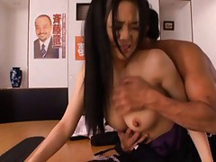 Sora Aoi Asian with such big titties had cunt doggy style fucked