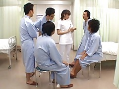 Yuma Asami Asian doctor is fondled by many of her male patients