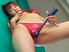 Yua Aida horny Asian tramp enjoys getting her wet pussy poked with a dildo