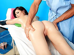 Girl seduced in sex doll porn by masseur