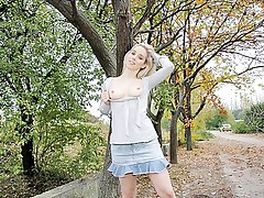Gorgeous blonde girl public sex vid