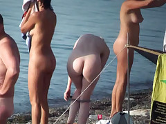 Hidden camera amateur nudist video series