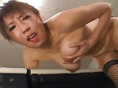 Japanese AV Model gets fucked anally and thenb gives blowjob