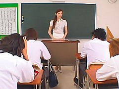 Asami Ogawa Asian teacher enjoys teaching her students how to fuck