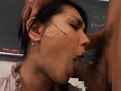 Maria Ozawa Asian has sperm on face still with dong in her mouth