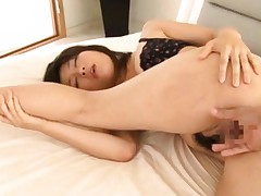 Kyouka Mizusawa has nooky fingered from behind and screams a lot