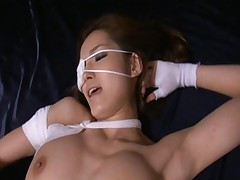 Mei Haruka has her legs spread very wide as her pussy is rubbed