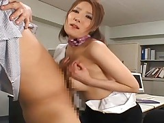 Japanese AV Model gets penetrated from behind then is inserted