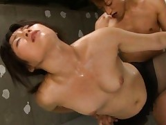 Kyouka Mizusawa has stockings ripped to be fucked from behind