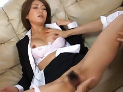 Yuna Hasegawa Asian in office suit has hairy slit fingered a lot